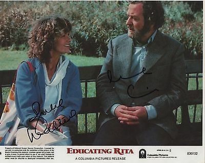 EDUCATING RITA personally DOUBLE signed 10x8 - MICHAEL CAINE, JULIE WALTERS