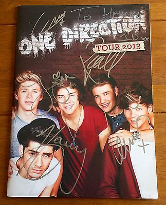 One Direction - 2013  Tour Programme Signed Autographed Harry