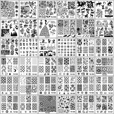 69Pcs Manicure TU Nail Stamping Plates Stainless Steel Nail Art Stamp Templates