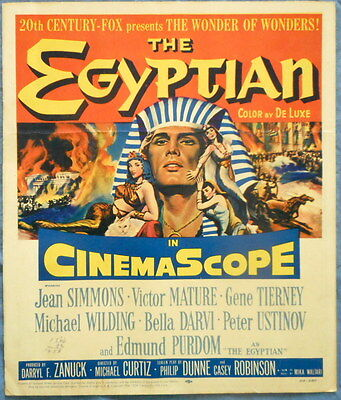 THE EGYPTIAN MOVIE POSTER 1954 Edmond Purdum Gene Tierney Bella Darvi