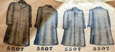 RARE VTG 1800s BOYS COAT BUTTERICK Sewing Pattern 12 YEARS