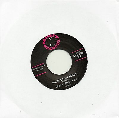 IRMA THOMAS HITTIN' ON NOTHING/RULER OF MY HEART  MINIT Re-Iss  60s R&B/NORTHERN