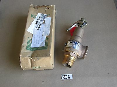 "New In Box Kunkle 1-1/4"" Threaded Relief Valve 6010-Ff  140 Psig  Brass"
