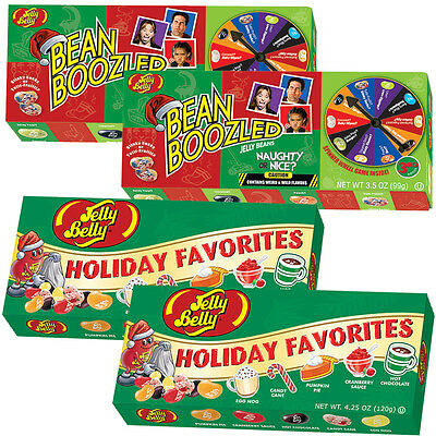 NEW Bean Boozled Naughty Or Nice And Jelly Belly Holiday Favorites Set (4 Total)