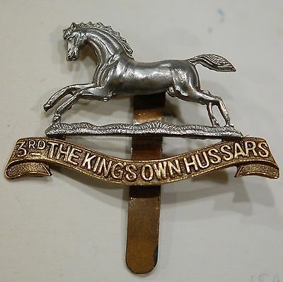 Great Britain -3rd The King's Own Hussars 1920 cap badge
