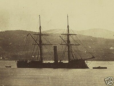 Confederate ironclad CSS Stonewall at Ferrol Spain New 8x10 US Civil War Photo