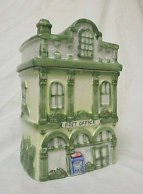 Post Office Ceramic Cookie Jar - Three Story Victorian