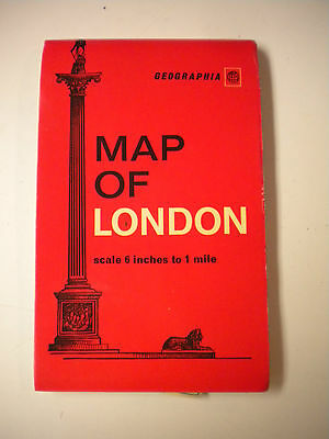 Vintage 1960's Geographia Map of London