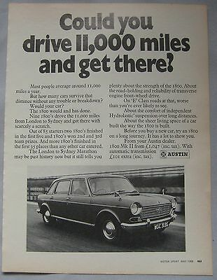 1969 Austin 1800 Mk2 Original advert
