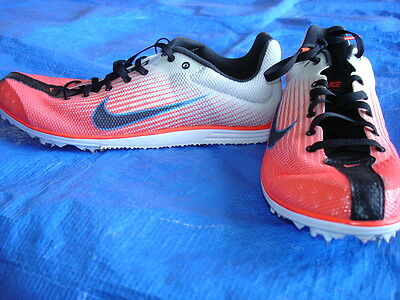 Womans 7.5 Nike Zoom Rival Atomic Pink & White Track & Field Spikes Shoes -Nwot