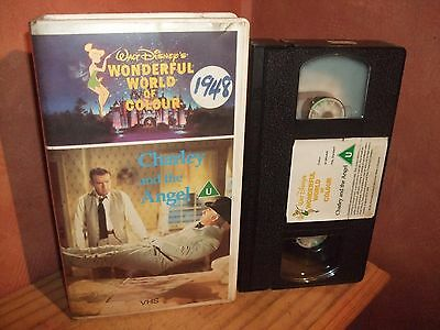 Disney's   ✩ Charley And The Angel ✩ Pre Cert Vhs Video