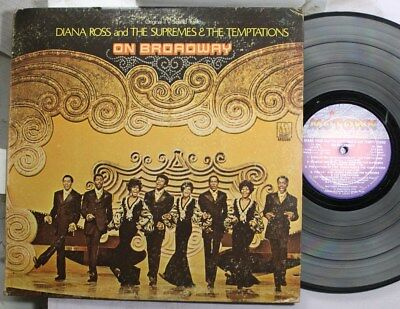 Soul Lp Diana Ross & The Supremes & The Temptations On Broadway On Motown