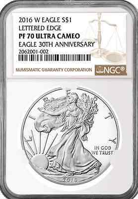 2016 W 1oz Silver Eagle Proof NGC PF70 Ultra Cameo - Brown Label