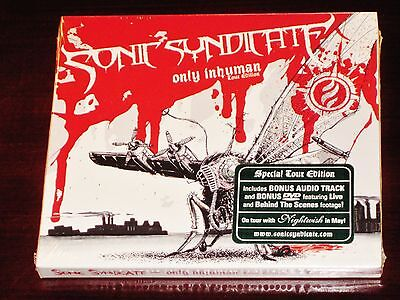 Sonic Syndicate: Only Inhuman - Special Tour Edition CD + DVD Set 2008 Bonus NEW