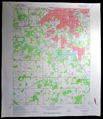 Jackson South Summit Spring Arbor Michigan vintage 1978 old USGS Topo chart