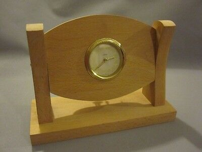 Vintage Kaiser West Germany Wind Up Clock Wood Desk Top Mantle Piece Faulty (29)