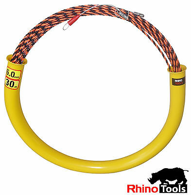 30 metre X 6mm Conduit snake  700kg breaking Strength  Cable rodder fish tape