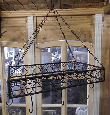 Kitchen Hanger For Pots, Pans, Herbs Antique Style Country House Metal New