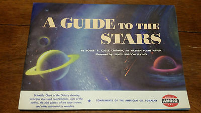 """Vintage 1951 American Oil Company AMOCO """"A Guide to the Stars"""""""