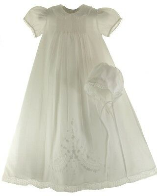 Infant Girls White Christening Baptism Gown - Feltman Brothers