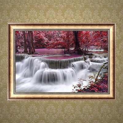 Waterfall 5D Diamond Embroidery DIY Painting Cross Stitch Crafts Home Decor