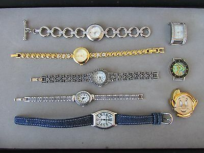 Lot Of 8 Lady's Quartz Watches Charter Club Vecceli Timex + Others