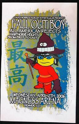 Fall Out Boy All American Rejects Denver Kuhn 2006 Concert Poster Silkscreen