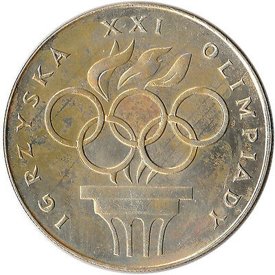 1976 Poland 200 Zlotych Large Silver Coin XXI Olympics Y#86