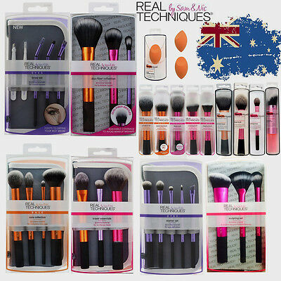 2016 New Real TECHNIQUES Makeup Brushes Starter Kit/ Core Collection/Travel Set