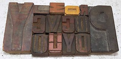 """Letterpress Letter Wood Type Printers Block """"Lots Of 14"""" Typography #bc-301"""