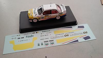 Decal BMW M3 E30 Mallorca Oil Rallye 2016 1:43