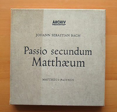 14 125/28 Bach St Matthew Passion Karl Richter ARCHIV 4xLP Mono Box + booklet