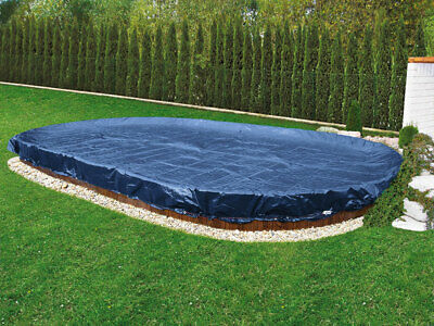 Poolplane Winterplane Oval und Achtform 3,70 x 7,30m Winter Sommer Poolabdeckung