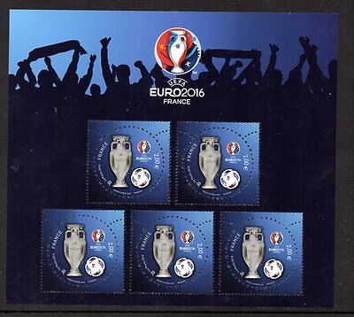 France Bloc Feuillet Uefa Euro 2016 Neuf * * Luxe / Mnh