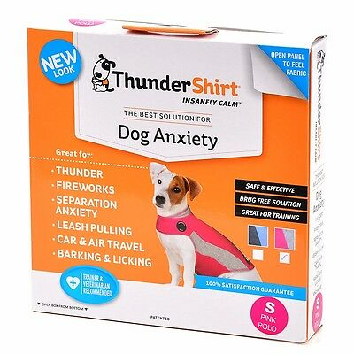 Thundershirt Anxiety Coat for Dog, Pink Polo - Pink (XXS to XL)