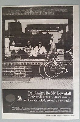 DEL AMITRI BE MY DOWNFALL original NME magazine Advert clipping A4 Size #