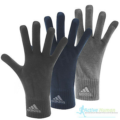 Adidas Mens Knitted Gloves One Size Winter Warm Sports Knit Black Grey Navy