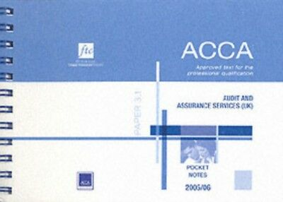 Audit and Assurance Services UK Stream (ACCA Pocket Note) (Paperb...