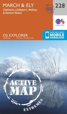 OS Explorer Map Active (228) March and Ely (OS Explorer Active Ma...