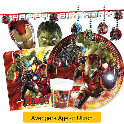 Avengers AGE OF ULTRON Birthday Party Range (Tableware & Decorations)2016 Procos