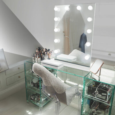 Diamond X Table Top Hollywood Makeup Mirror with Daylight Dimmable LED k90sCW