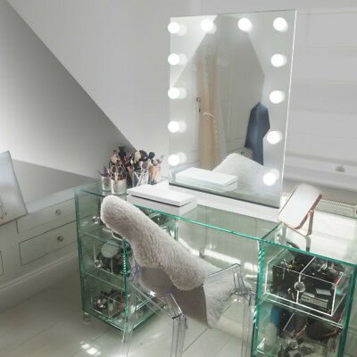 Diamond X Table Top Hollywood Makeup Mirror with Warm White Dimmable LED k90sWW