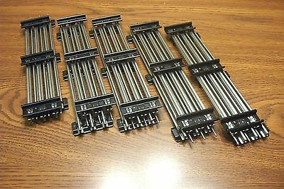 """Lionel 6-65500 10"""" Tubular Straight Track Traditional O Gauge  10 Pieces"""
