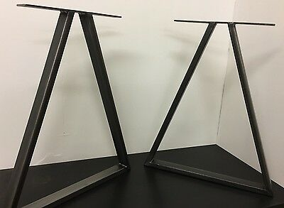 Set Of Industrial Steel Metal legs Dining Table /desk - Triangle Design