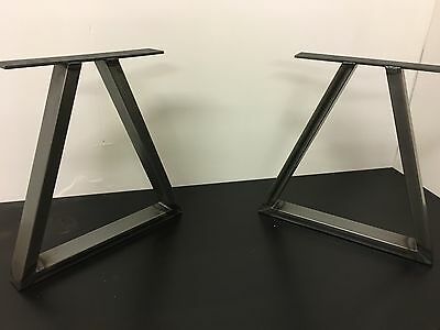 Set Of Industrial Steel Metal legs Bench -Triangle Design-Custom Size Available