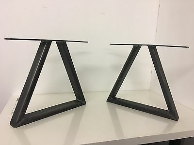 Set Of Industrial Steel Metal legs For Coffee Table -Triangle Design