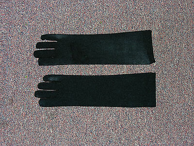 Long Black Child Costume Gloves