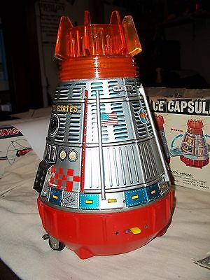 All Original Super  Space  Capsule      Japan Tin Toy   + Box  Space Toy