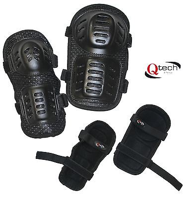 CHILDRENS Kids MX  KNEE & ELBOW Pad kit set Motocross PROTECTION BMX motorcross