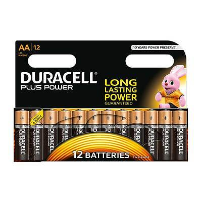 Duracell Plus Power Alkaline AA MN1500 LR6 Sizes - (12 Pack)